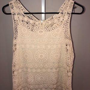 Crochet Ivory Women's Top
